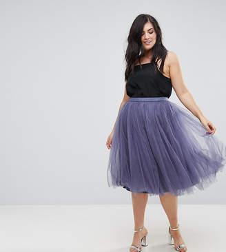 Little Mistress Plus Midi Tulle Skirt