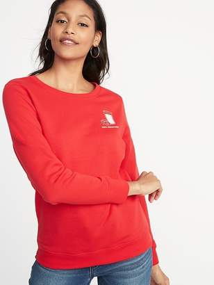Old Navy Christmas-Graphic Vintage Sweatshirt for Women