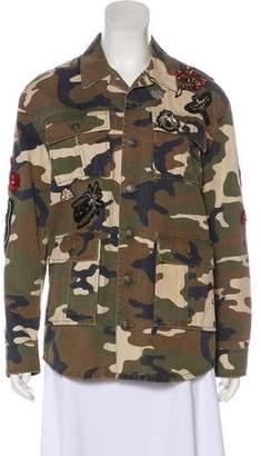 Cinq à Sept Camouflage Button-Up Jacket