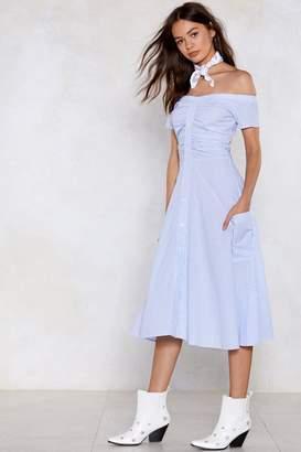 Nasty Gal Low Tide Off-the-Shoulder Dress