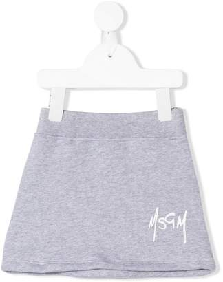 MSGM Kids logo jersey skirt