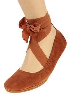Yosi Samra Women's Stella TIE Flat Ballet