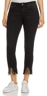 Mavi Jeans Tess Vintage Skinny Jeans in Smoke Fringe
