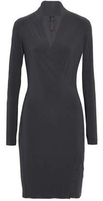 Norma Kamali Wrap-Effect Draped Stretch-Knit Dress