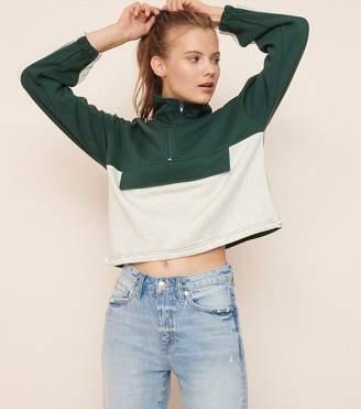 Garage Mock Neck Half Zip Sweatshirt