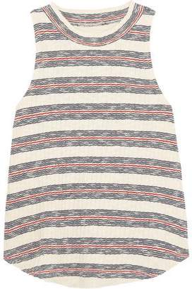 Madewell Striped Ribbed Cotton-Blend Top