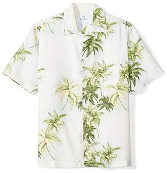 28 Palms Men's Relaxed-Fit 100% Silk Tropical Hawaiian Shirt