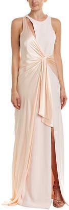 Cinq à Sept Clemence Silk-Paneled Gown