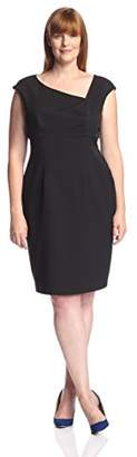 Society New York Women's Asymmetrical Neck Sheath Dress