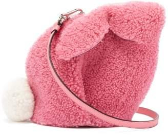 Loewe Bunny Shearling Cross Body Bag - Womens - Pink