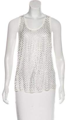 Marc Jacobs Rhinestone-Embellished Silk Top