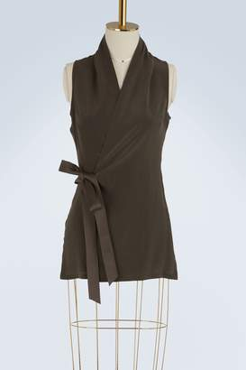 Rick Owens Silk wrap top