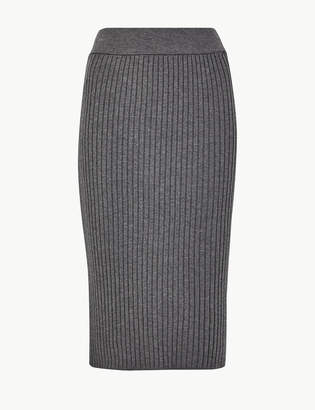 Marks and Spencer Knitted Pencil Midi Skirt