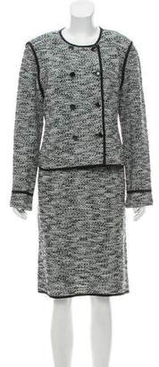 St. John Knit Double-Breasted Dress Set w/ Tags