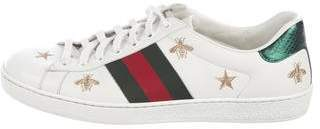 Gucci Ace Ayers-Trimmed Web Sneakers