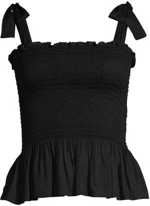 Cool Change Coolchange Holly Tie-Strap Smocked Peplum Top