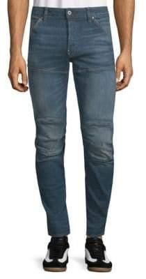 G Star Slim-Fit Whiskered Jeans