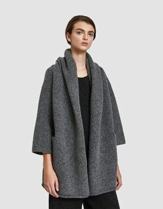 LAUREN MANOOGIAN Capote Shawl Coat in Charcoal