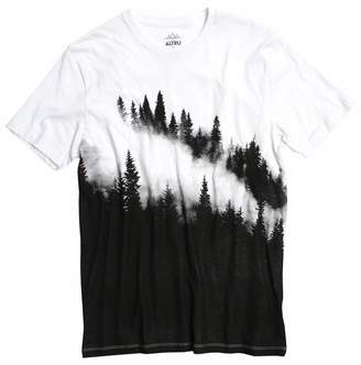 Altru APPAREL Foggy Pines Black and White Graphic tee