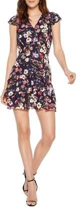 Parker Sloane Floral Silk Blend Minidress