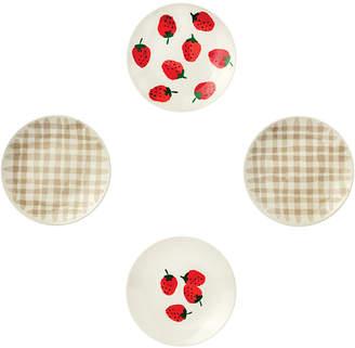 4-Pc. Tidbit Plates Set, Strawberries