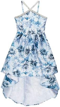 eba74655e Speechless Girls 7-16 Y-Neck Floral High-Low Dress