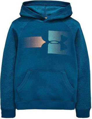 Under Armour Boys Rival Logo Hoodie - Teal