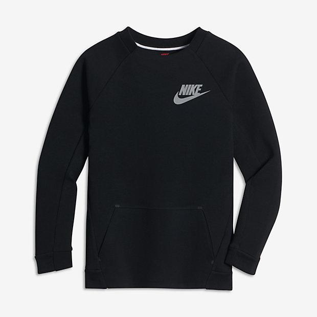 Nike Sportswear Tech Fleece Big Kids' (Boys') Long Sleeve Crew