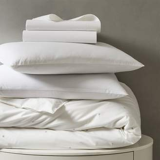 west elm Organic Washed Cotton Bedding Set - Stone White