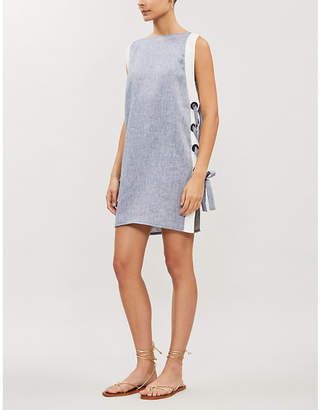 Emma Pake Francesca lace-up linen mini dress