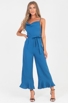a7ff9283b8f at Little Mistress · Girls On Film Outlet Rio Cowl Neck And Frill Hem  Jumpsuit