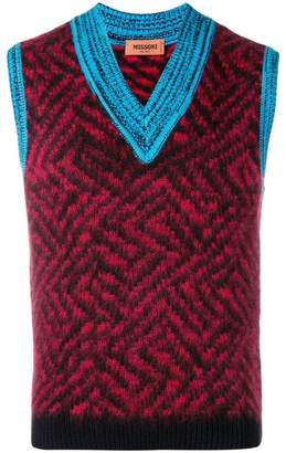 Missoni knitted vest