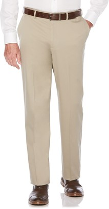 Savane Men's Ultimate Straight-Fit Performance Flat-Front Chino Pants