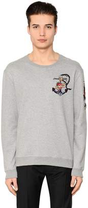 Valentino Tattoo Beads Embroidered Sweatshirt