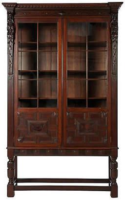 One Kings Lane Vintage Antique French Display Cabinet - La Maison Supreme