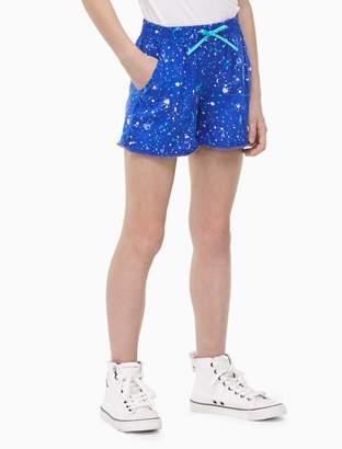 Calvin Klein girls paint splatter shorts