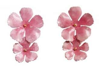 Jennifer Behr Faye Large Pink Flower Earrings