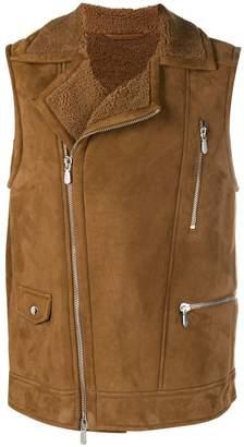Eleventy zipped biker vest