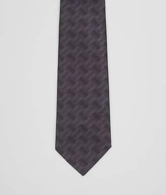 Bottega Veneta Nero Argento Silk Tie