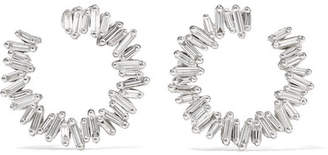 18-karat White Gold, Sapphire And Diamond Earrings - one size Suzanne Kalan