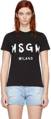 MSGM Black Milano Logo T-Shirt