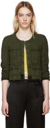 Haider Ackermann Green Linen Nakhu Jacket $1,680 thestylecure.com