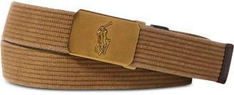 Polo Ralph Lauren Men's Pony-Plaque Webbed Belt