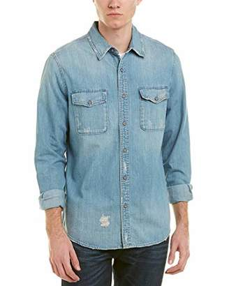 AG Adriano Goldschmied Men's Benning Mended Long Sleeve Denim Shirt