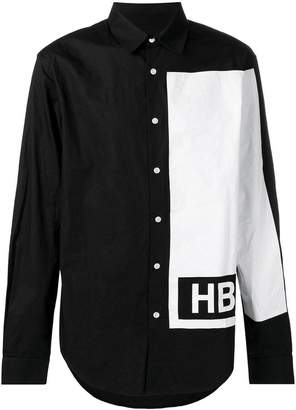 Hood by Air contrast long-sleeve shirt