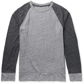 Club Monaco Colour-Block Mélange Cotton-Blend Jersey T-Shirt
