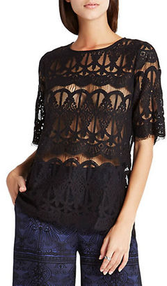 Bcbgeneration Scalloped Lace Tunic $78 thestylecure.com