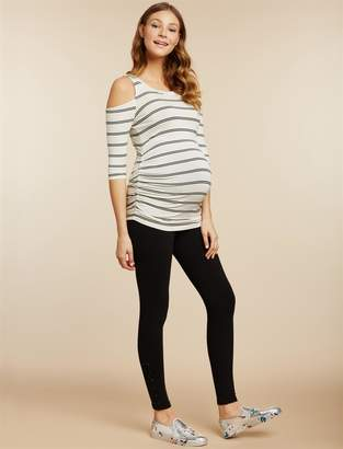 Jessica Simpson Motherhood Maternity Secret Fit Belly French Terry Maternity Leggings