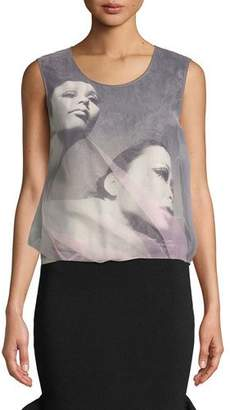 Opening Ceremony Shinoyama Organza Graphic Tank Top