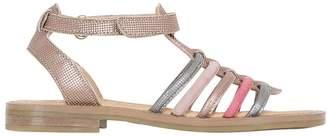 Momino Embossed Metallic Leather Sandals